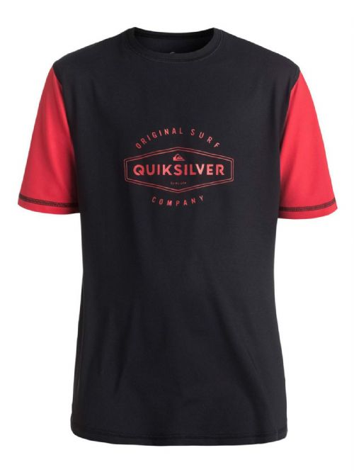 QUIKSILVER BOY T SHIRT.LAST CALL UPF50+ SUN PROTECTION RASH VEST TOP 7S/21/KVJO